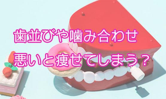 噛み合わせや歯並びと痩せ型の関係